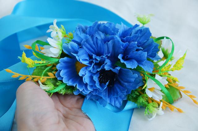 лента с цветами, украинский венок