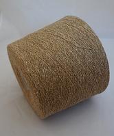 Inwool art NEVADA 60%шерсть 20%шелк 20% полиамид 800 м песочный с белыми вкраплениями
