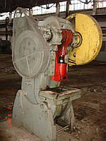 Пресс кривошипный усилием 25т с механическим управлением, фото 1