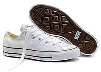 Мужские Converse Chuck Taylor All Star Low White (в стиле конверс)
