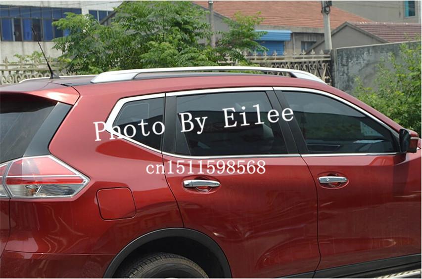 Рейлинги Nissan X-Trail 2014+ серебристые  Original