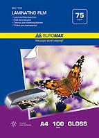 Плівка для ламінування, Buromax глянцева А4, 75мкм, 216х303мм, 100арк