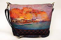 Женская джинсовая стеганная сумочка Гавань2, фото 1
