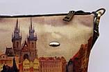 Женская джинсовая стеганная сумочка Площадь, фото 4