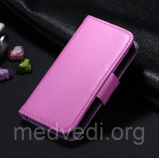 Фиолетовый чехол-книжка для iPhone 5/5S из эко-кожи