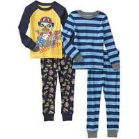 Пижама мальчику,комплект 4 вещи, Хлопок,пижамы размеры 2года, 3года,4года,5лет слип