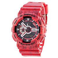 Мужские (женские) спортивные наручные часы Casio G-Shock ga-110 красный+хаки - AAA копия, полный комплект, фото 1