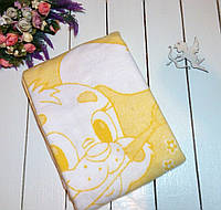 Одеяло байковое детское 110х140 см. Желтое