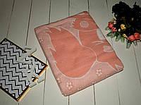 Одеяло байковое детское 110х140 см. Персик Качество!