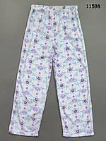 Флисовые домашние штаны для девочки. 10 лет