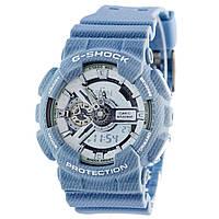 Мужские (женские) спортивные наручные часы Casio G-Shock ga-110 цвет Джинсы (под джинсу) - AAA копия, фото 1
