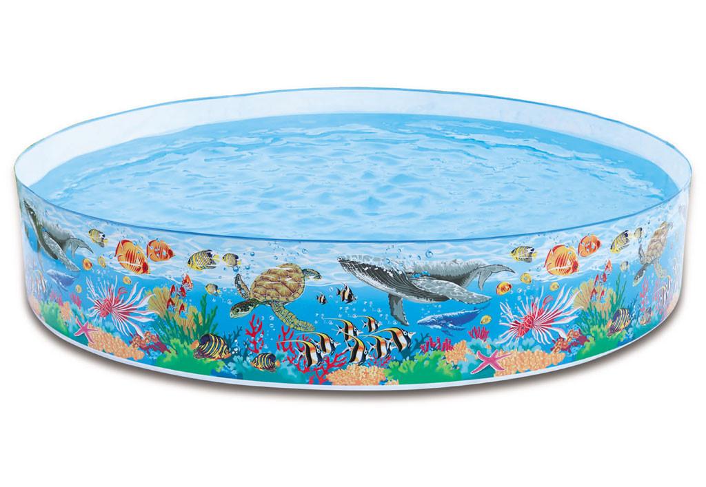 Бассейн детский каркасный 244 х 46 см «Океанский риф» Intex 58472