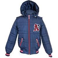 Демисезонная подростковая куртка-жилетка, рост 128 - 152