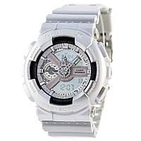 Мужские (женские) спортивные наручные часы Casio G-Shock ga-110 серебряного ( серебристого ) цвета - AAA копия