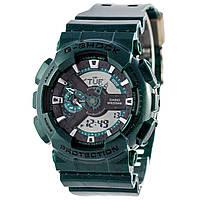Мужские (женские) спортивные наручные часы Casio G-Shock ga-110 темно-зеленого цвета-AAA копия,полный комплект, фото 1