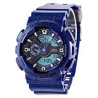 Мужские (женские) спортивные наручные часы Casio G-Shock ga-110 темно-синего цвета-AAA копия,полный комплект, фото 1