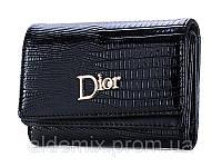 Женский раскладной кошелек Dior mini черного цвета, фото 1