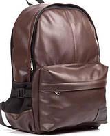 Кожаный рюкзак UK Sport, городской рюкзак коричневый, фото 1