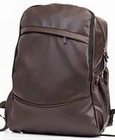 Акция! Молодежный рюкзак PU кожа, городской рюкзак коричневый, фото 1