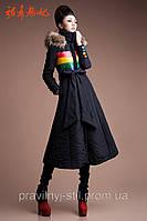 Длинное теплое пальто 2 вида, фото 1