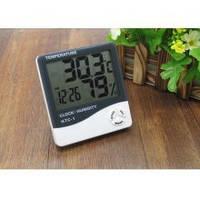 Цифровой термометр часы гигрометр LCD 3 в 1 HTC 1, борометр, комнатный термометр