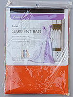 Чехол для хранения и упаковки одежды на молнии флизелиновый  оранжевого цвета. Размер 60 см*90 см.