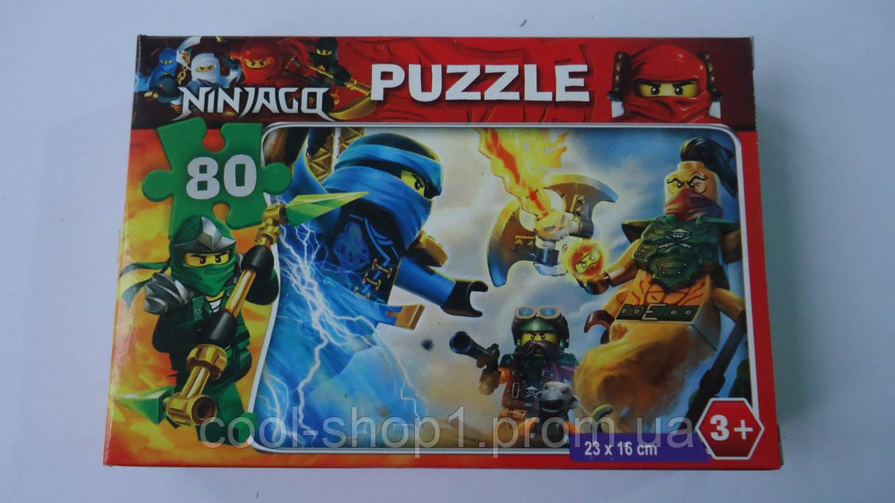 """Пазлы """"Ниндзяго Ninjago"""",80 ел,Enfant,230х160мм.Детские пазлы,80 элементов.Пазли мален. на 80 эл .Пазлы детски - Интернет-магазин """"Cool shop"""" в Закарпатской области"""