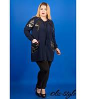 Женская синяя туника большого размера Патти ТМ Olis-Style 54-64 размеры