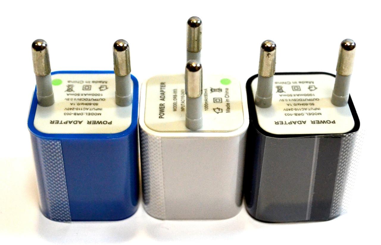 Адаптер USB 220V 1A кубик