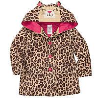 Куртка - дождевик ветровка девочка леопард (c213780-ct)