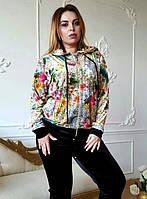 Велюровый женский спортивный турецкий костюм EZE купить разм 54,56,58,60,62,64 Супербаталы, фото 1