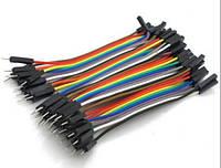 Монтажный провод 10см, разьемы папа-мама для макетирования (Arduino)