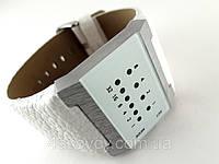 Часы бинарные мужские Alberto Kavalli белый ремешок и циферблат, лучшее качество, фото 1