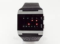 Часы бинарные мужские Alberto Kavalli черный ремешок и циферблат, лучшее качество