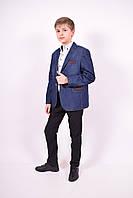 Пиджак для мальчика джинсовый Slim Fit (color 01) Palmiro Rossi 4286/01 Рост:122,128,134,140