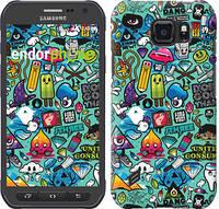 "Чехол на Samsung Galaxy S6 active G890 Стикер бомбинг 1 ""693c-331"""