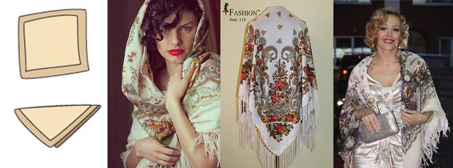 Как красиво повязать павлопосадский платок?