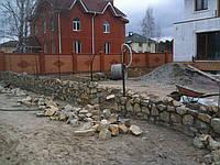 Забор из колотого камня двухлицевой, Киев (Чайка), фото 1