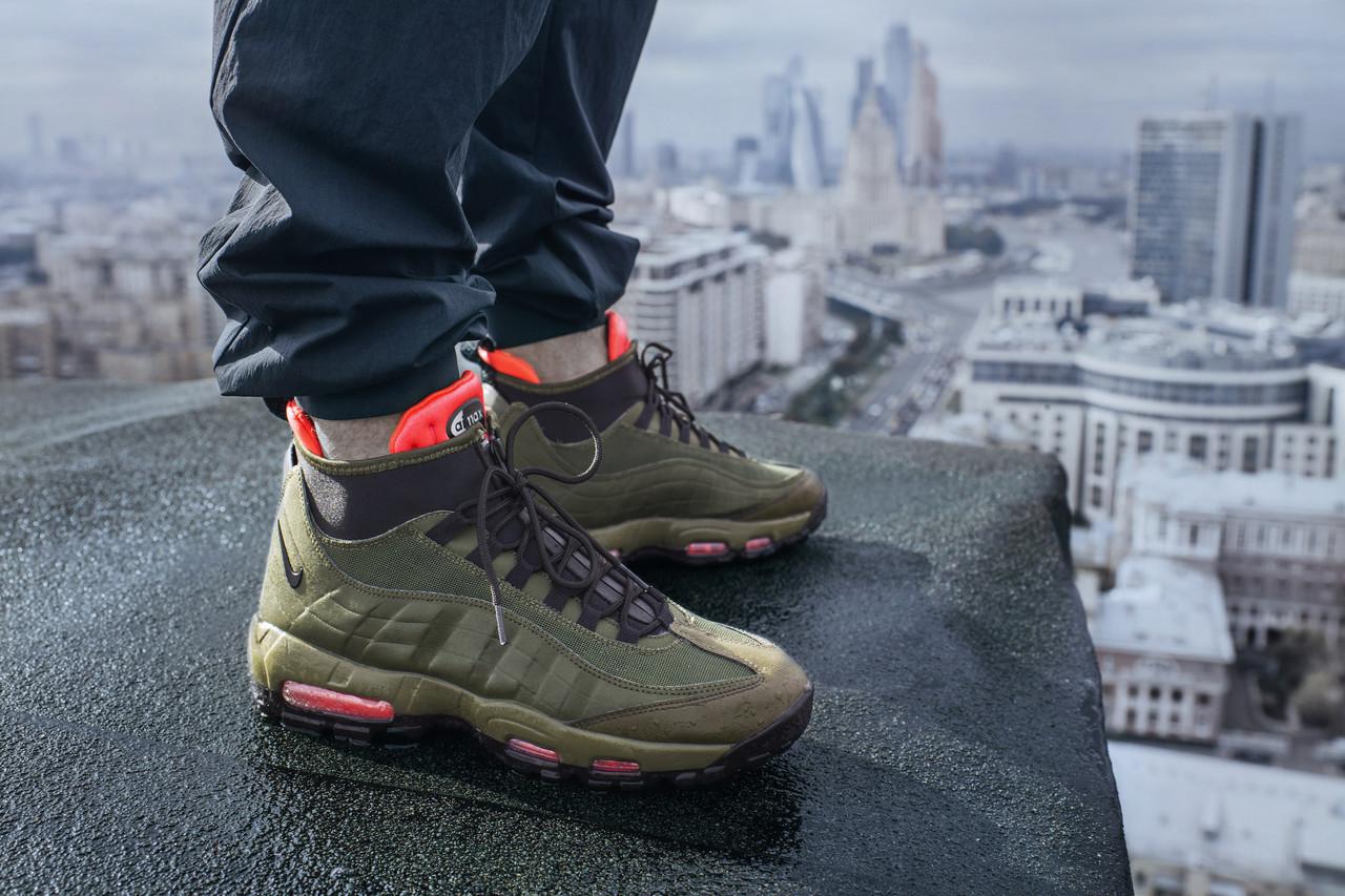 "... Мужские кроссовки Nike Air Max 95 Sneakerboot ""Dark Loden"" реплика, ... 9cbea23ea6e"