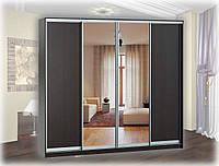 Шкаф-купе 4-х дверный с 2-мя зеркалами