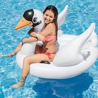 Надувной плотик круг для плавания Intex 57557 Лебедь