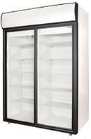 Холодильна шафа POLAIR DM114Sd-S(скляні дводвері-купе)