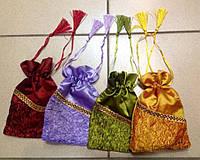 Мешочек из парчи для подарков, сувениров и хранения