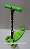 Самокат складной со светящимися колесами 21st scooter Maxi Micro 4108F, зеленый***