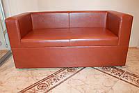 Кухонная лавочка мягкая с ящиком и подлокотниками (Кирпичный цвет)