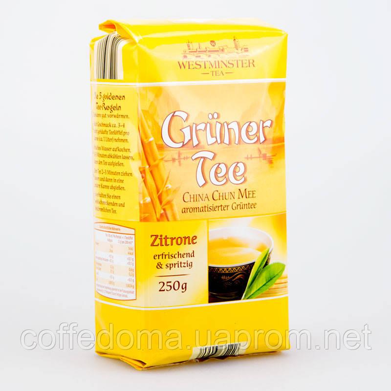 Westminster Gruner Zitrone Tee чай зеленый разсыпной