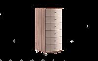 Комод класический, высокий, уникальный, гнутые фасады размером 49,5х50,5х127 см Сатурн 495