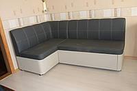 Кухонный уголок мягкий с ящиком и спальным местом в искусственной коже улучшенного качества