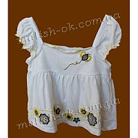 Майка белая с вышивкой девочка Baby H.Q. (46795)
