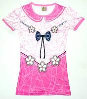 """Платье - туника """" Бантик"""" для девочки 8,9,10,11,12 лет ( ткань масло) Турция"""
